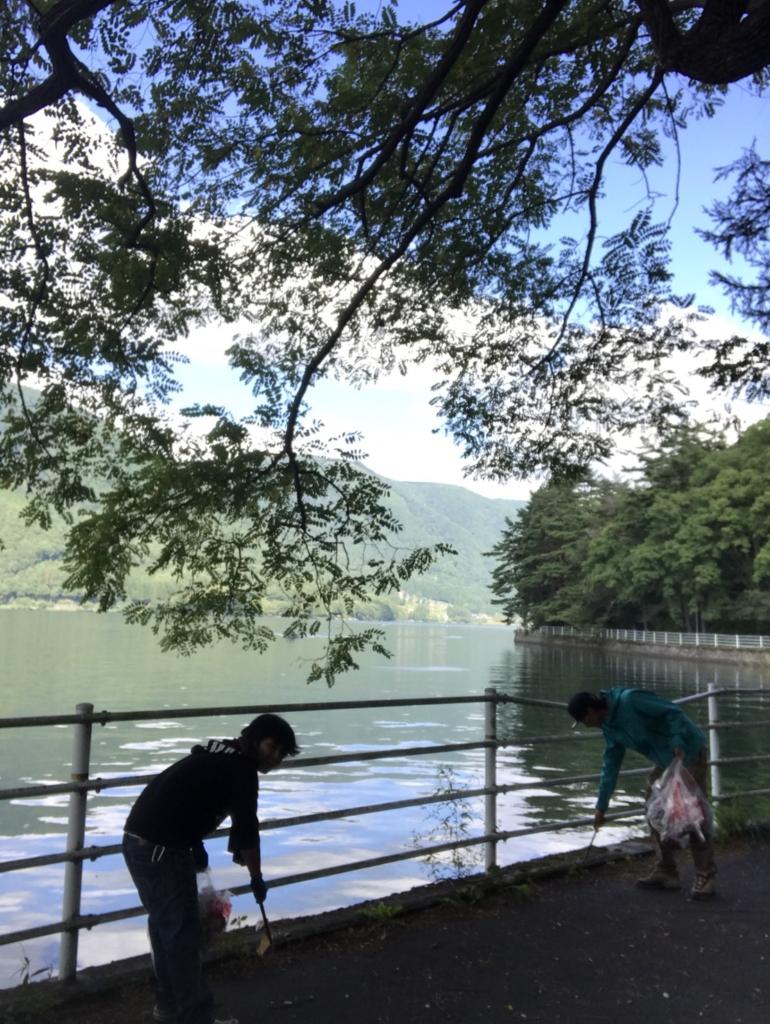 モダンボート:木崎湖クリーンアップへ!