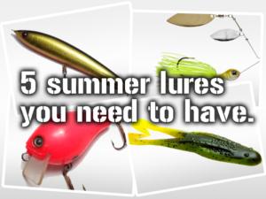 夏に使わなければならない5つのルアー!