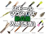 対スモールマウスバス新兵器入荷!