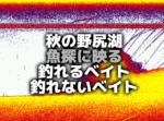 """秋の野尻湖""""魚探に映るベイトの良し悪し"""""""