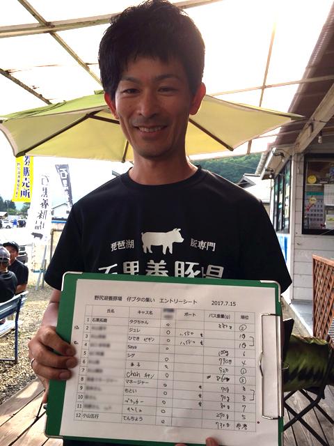 野尻湖養豚場「仔豚の集い」釣り大会終了!
