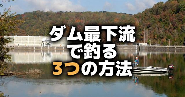 ダムの最下流部で釣る3つの方法