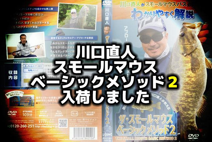 これで釣れる!【DVD】川口直人 ザ・スモールマウス ベーシックメソッド2 入荷しました【全国通販OK】