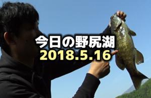 5月の野尻湖バス釣り:2018.5.16