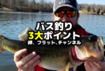 バス釣り3大ポイント:岬・フラット・チャンネル