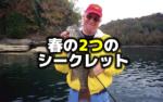 春のバス釣り、2つのシークレット