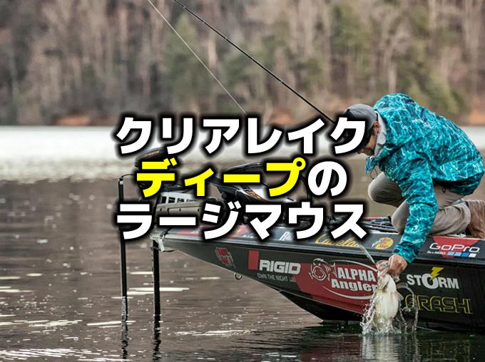 クリアレイクのディープのラージマウスバスを釣る