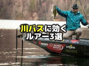 川バスを釣るのに有効なルアー3選:ブランドンパラニューク