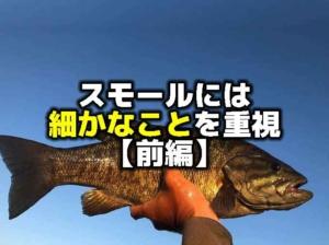 スモールマウスバスを釣るには細かなことを重視しよう:前編