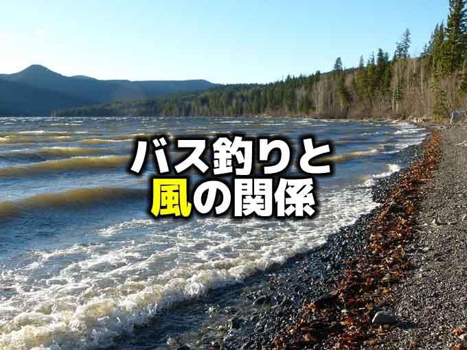 バス釣りと風の関係:風向きによって釣果は変わるのか?
