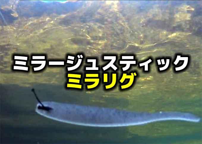 釣れるワームの水中映像!プロフェッサー・ミラージュスティックのミラリグ