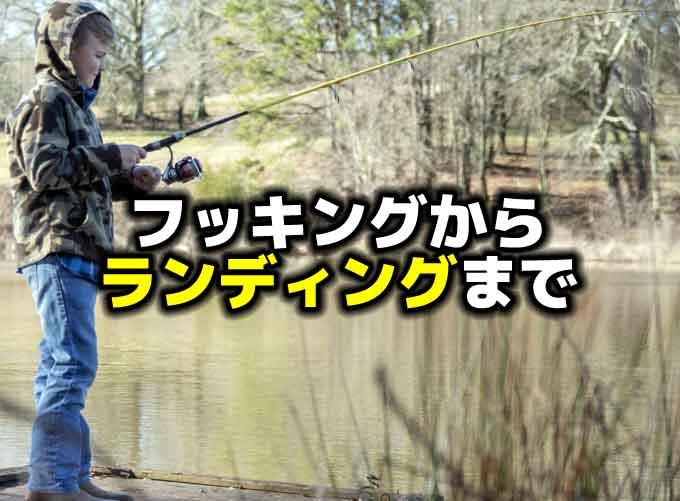 【初心者向けバス釣り対策】フッキングからランディングまでをマスターしよう