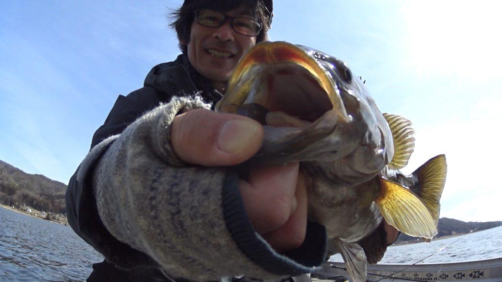 ミラージュスティックのボトストで木崎湖の3月、早春のスモールマウスバスに挑戦!