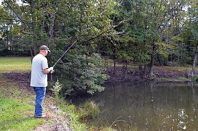 夏の野池のバスを探す方法:おかっぱりバス釣り