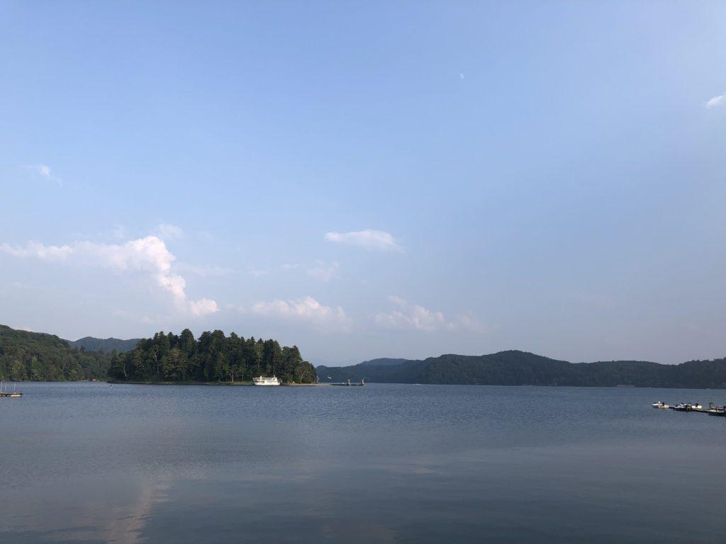 8月下旬の野尻湖:ダウンショットでナイスなスモールマウスバス(ソアリンシャッド縦割り&ニシネ ドロップショットミノー)