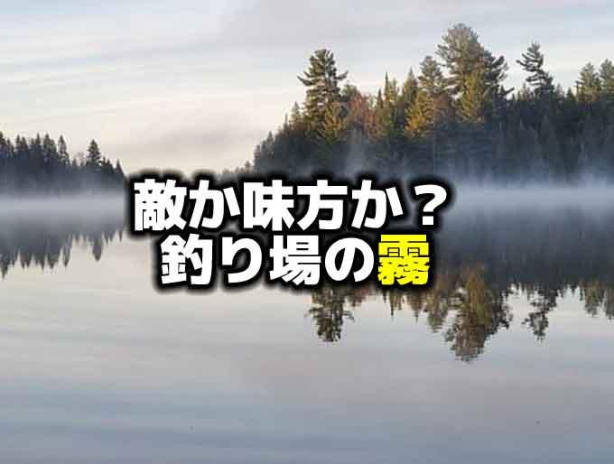 霧はバス釣りの敵か?味方か?