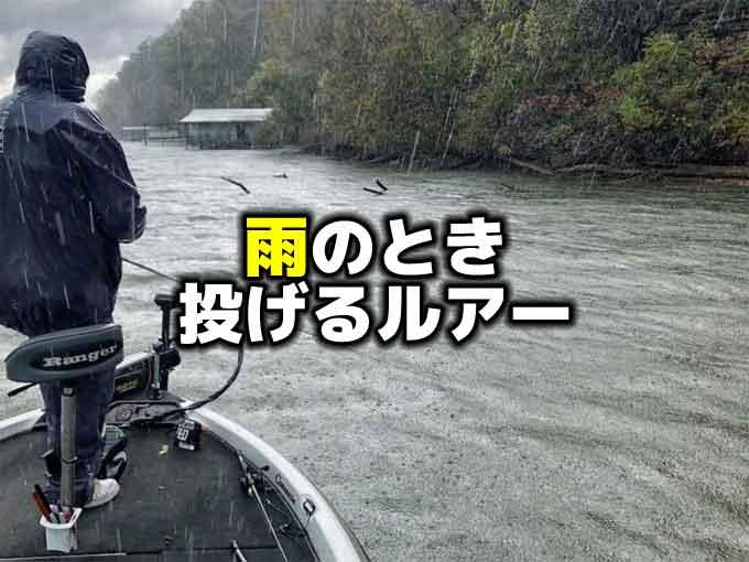 【雨の日のバス釣り】雨のときに投げるべきルアーとは