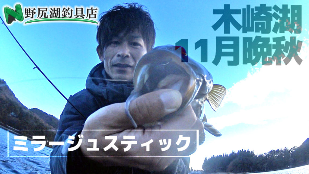 11月・晩秋のタフな木崎湖:ミラージュスティックのダウンショットリグで良型2発!