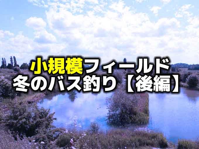 【野池・小規模湖】小さなフィールドでの冬のバス釣り【後編】