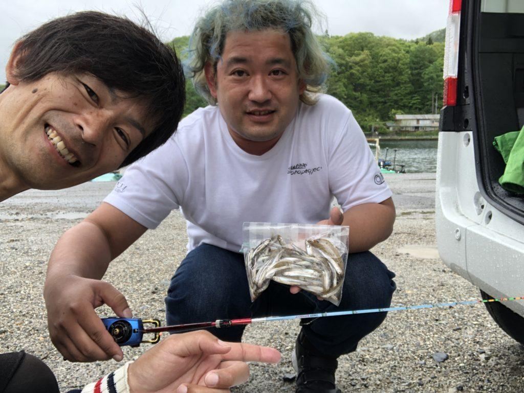 木崎湖 春の表層I字系まつり!?
