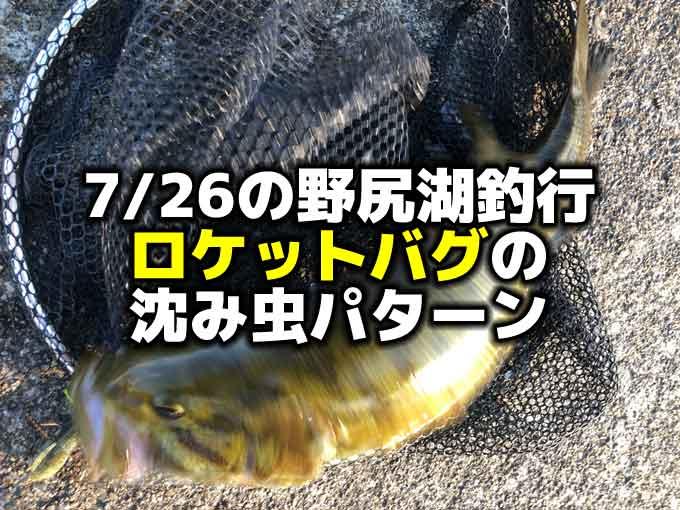 7/26 梅雨明けの野尻湖バス釣り虫パターン不発からの沈み虫パターン!