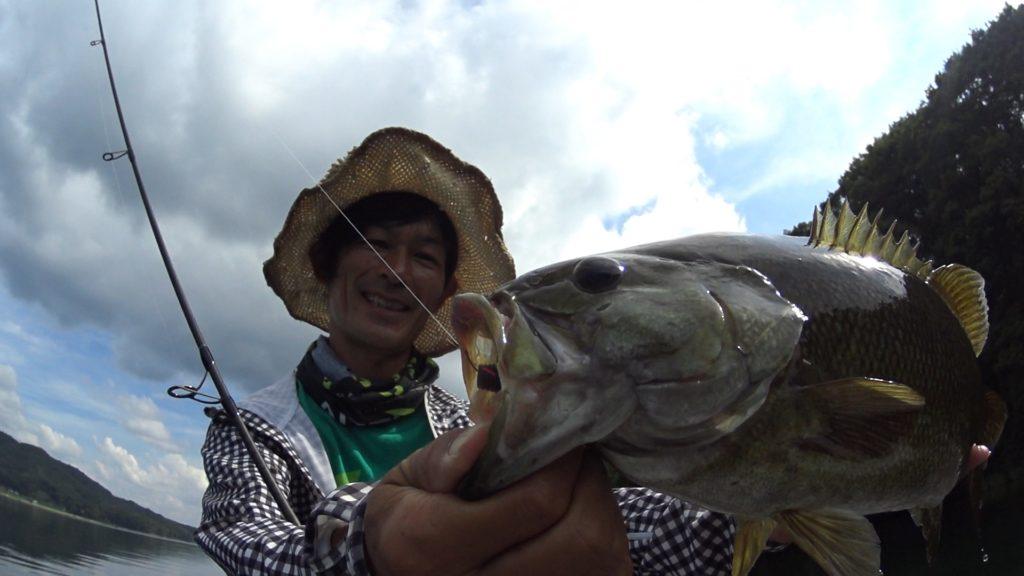 8月の木崎湖バス釣り:渋いときには沈み虫のリアクション?