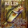 ブリキ看板 【FISHERMAN'S RULES】 |バスルアー・タックル通販専門の野尻湖釣具店